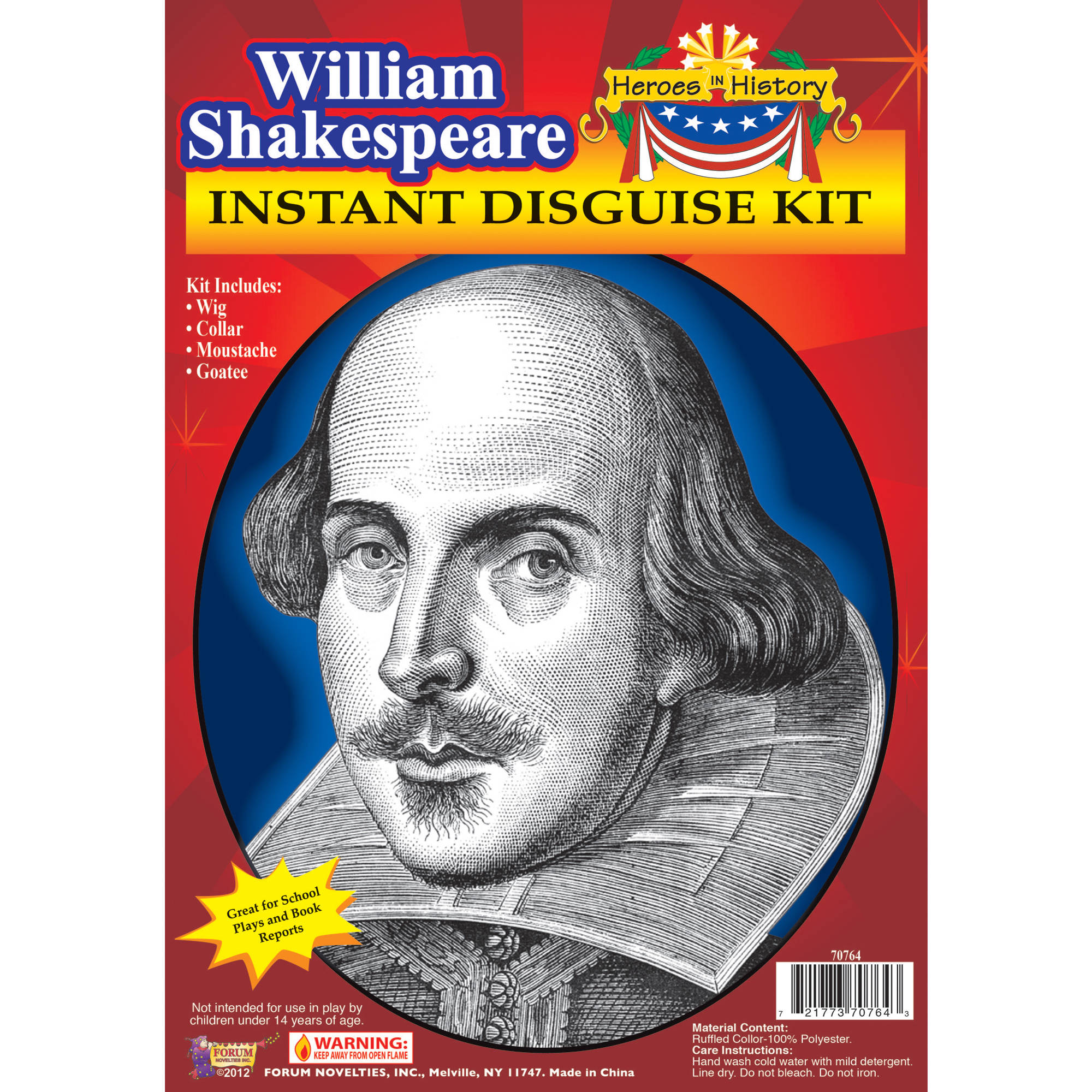 Williams Shakespeare Heroes In History Adult Halloween Accessory