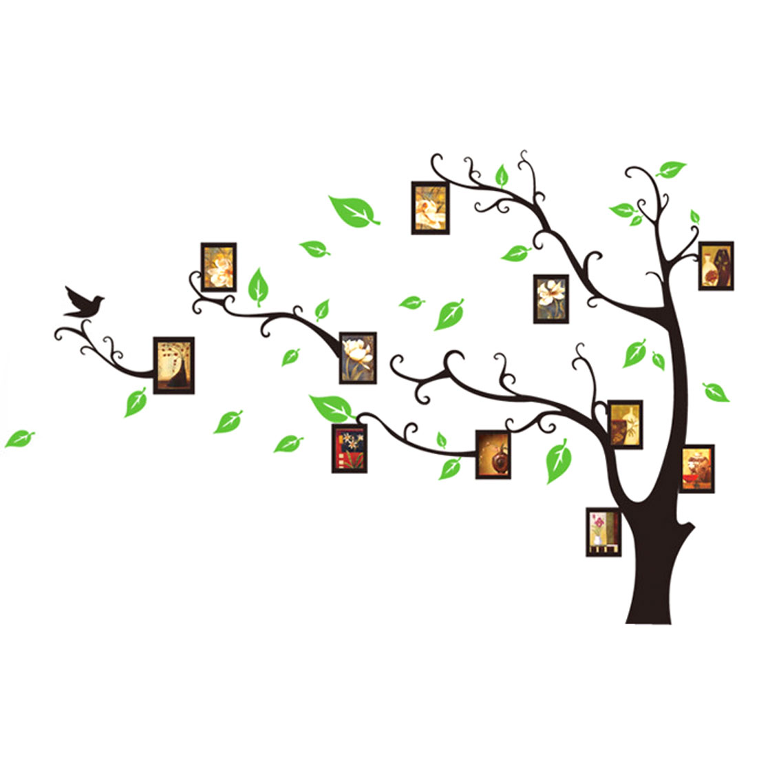 Photo Frame Tree Pattern Window Living Room Art Decal Wall Sticker Decor