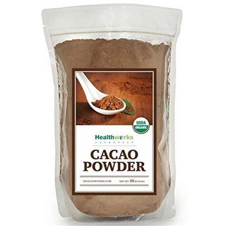 Healthworks Raw Certified Organic Cacao Powder 1 lb (16 (Raw Carob Powder)