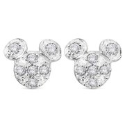 Mickey Mouse Pavé Icon Earrings