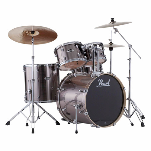 Pearl Export 5-Piece Drumset w/ Hardware - Smokey Chrome