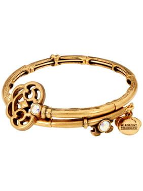 Alex And Ani Key Wrap Gold One Size Bracelet V18WK01RG