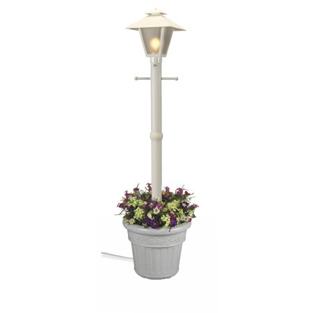 Patio Living Concepts Cape Cod 66001 80 Inch White - Single Coach Lantern Planter
