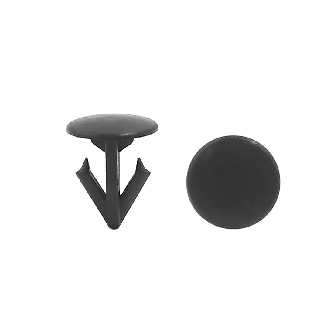 100Pcs Black Car Plastic Door Fender Clips 7.5mm Hole Dia  Rivets Fastener - image 2 of 2