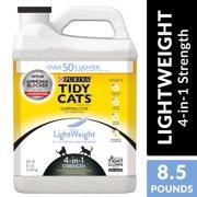 Purina Tidy Cats Light Weight, Low Dust, Clumping Cat Litter, LightWeight 4-in-1 Strength Multi Cat Litter - 8.5 lb. Jug