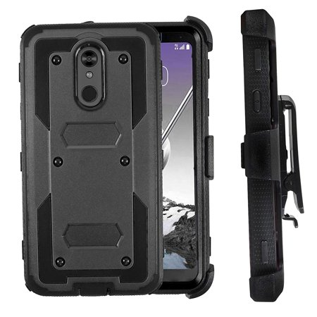 Mignova LG K40 Case, LG K12 Plus/LG X4(2019)/LG LMX420 case, Heavy-Duty Shockproof Full Body Protection Rugged Hybrid Case with Rotating Belt Clip and Bracket 2019