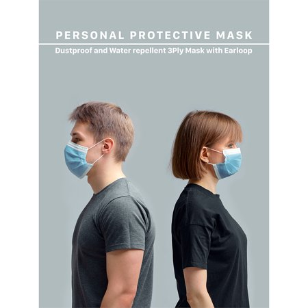 50pcs Disposable Face Mask Safety Mask Industrial Anti Dust for Personal Health 3Ply Ear Loop - image 7 of 13