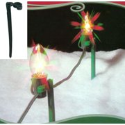 pack of 25 green christmas light stakes for outdoor decorating 8 - Christmas Stake Lights