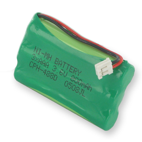 GE 5-2660 Cordless Phone Battery 1X3-5/4AAA/D - 3.6 Volt, Ni-MH 800mAh - Replacement Battery
