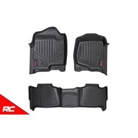 Rough Country Floor Liners compatible w/ 2007-2013 Chevy Tahoe GMC Yukon Bench 1st 2nd Row Rugged Floor Mats M-20715