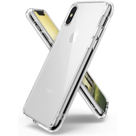 Apple iPhone X Phone Case, iPhone 10 Case, Ringke [FUSION] Clear Minimalist Transparent PC Back TPU Bumper [Drop Protection] Scratch Resistant Protective Cover -