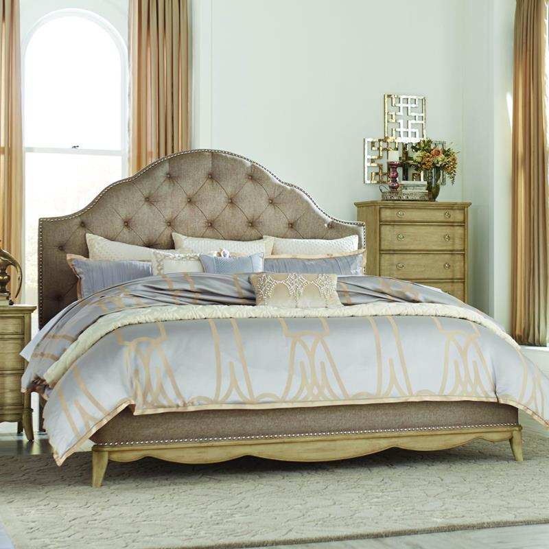 Homelegance Ashden Platform Bed w/Upholstered Headboard in Driftwood - (Eastern King)