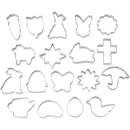Wilton Easter Cookie Cutter Tub, 18-Count
