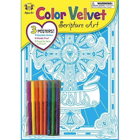 Fix Our Eyes Hebrews 12:2 Color Velvet Art Color His Words Activity Book - Halloween Bible School Activities
