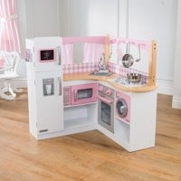 Deals on KidKraft Wooden Grand Gourmet Corner Play Kitchen Play Set