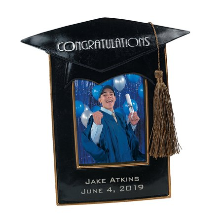Fun Express - Resin Graduation Frame for Graduation - Home Decor - Gifts - Photo Frames & Photo Albums - Graduation - 1 Piece](Fun Frames)