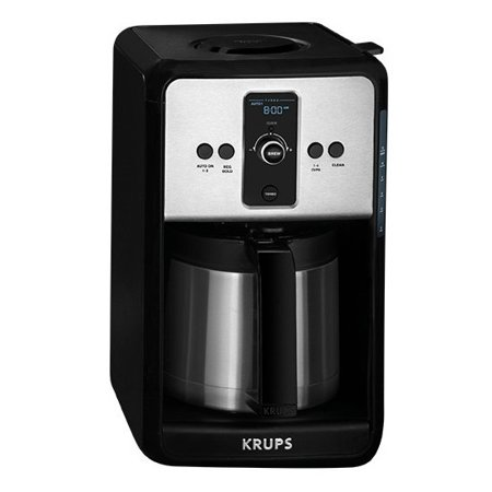 Krups Turbo Savoy Black 12 Cup Programmable Thermal Coffee