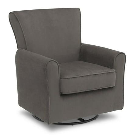 Delta Children Elena Glider Swivel Rocker Chair, Grey Velvet - Rocker Child