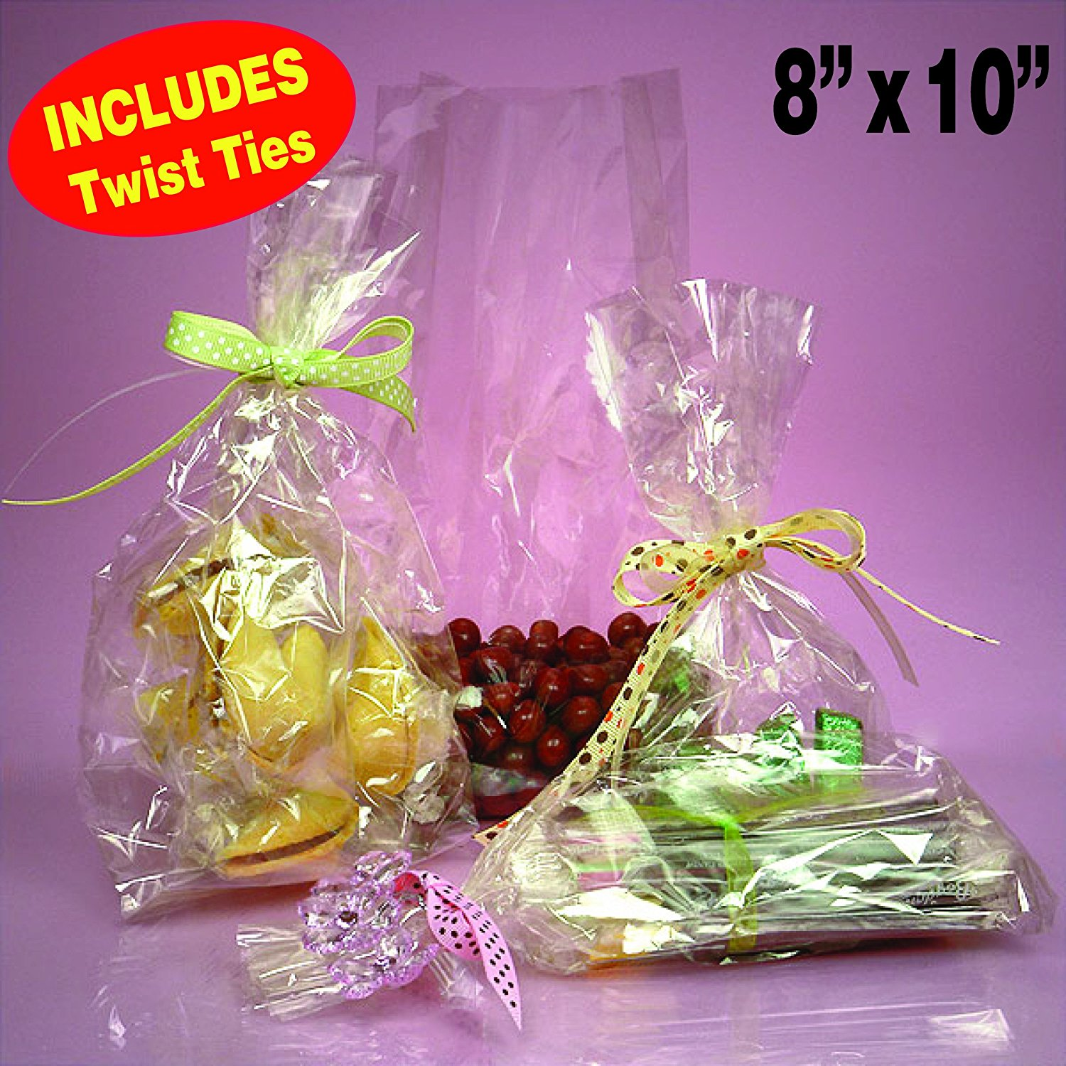 100 Clear Cellocellophane Bags Flat 8 X 10 Wedding Favors