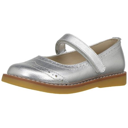 Elephantito Kids' Martina K Mary Jane Flat, Silver, Size 11.5 M US Little Kid for $<!---->
