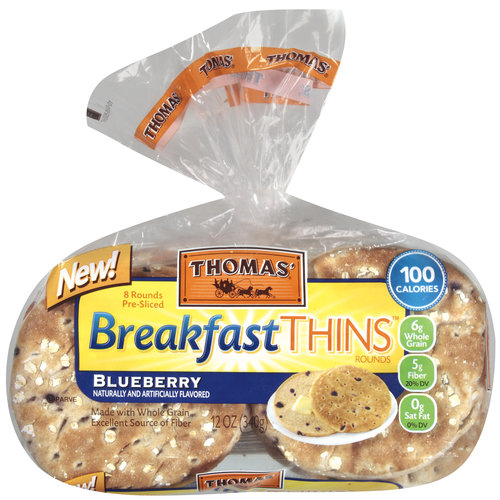 Thomas' Blueberry Breakfast Thins Rounds, 8 count