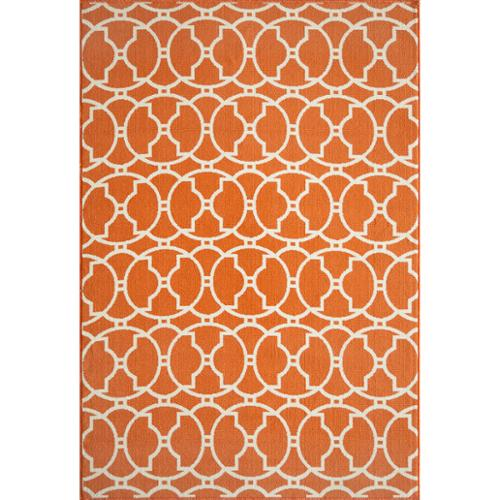 Momeni Moroccan Tile Orange Indoor Outdoor Rug 6 7 x 9 6