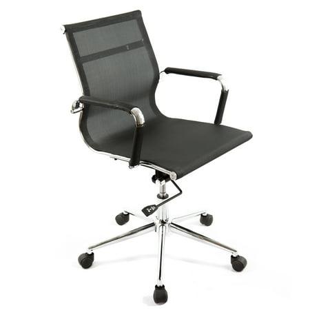 bodymade modern mesh office chair with chrome frame black walmart com