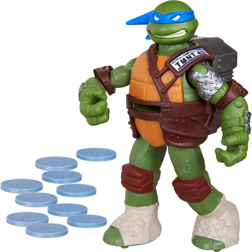 Teenage Mutant Ninja Turtles Leonardo Sewer Cover-Firing Flinger Action Figure