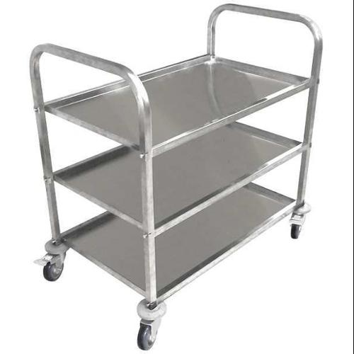 35ZW26 Food Service Cart, Stainless Steel, 450 lb
