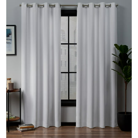 Exclusive Home Curtains 2 Pack Academy Total Blackout Grommet Top Curtain Panels ()