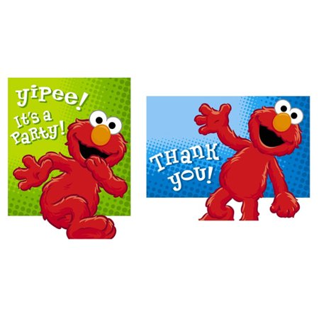 Sesame Street Elmo 'Hooray for Elmo' Invitations & Thank You Notes w/ Envelopes (8ct ea.)](Sesame Street Baby Shower Invitations)