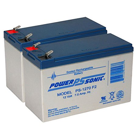 PS-1270 12 Volt 7 AH SLA Battery .250 F2 TERMINAL - 2 Pack