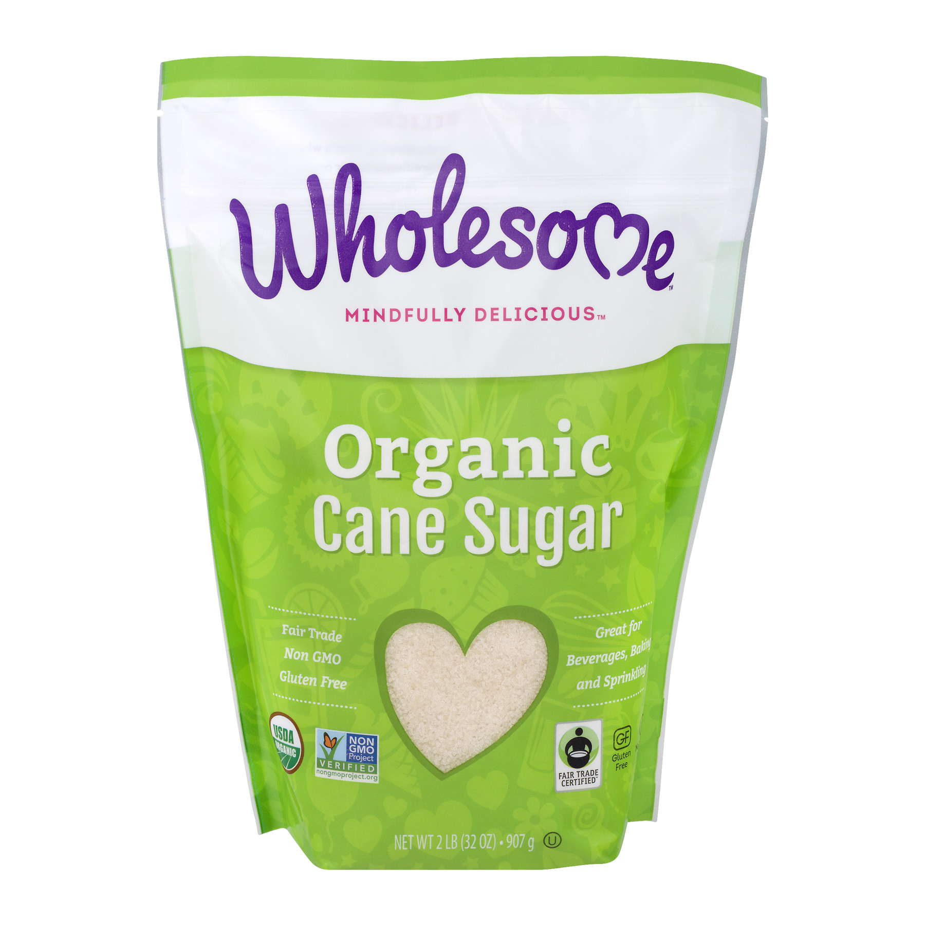 Wholesome Sweeteners Organic Cane Sugar, 32.0 OZ