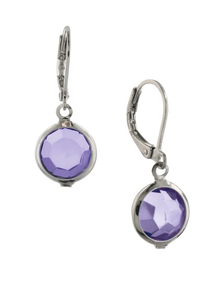 Silver Tone Tanzanite Drop Earrings
