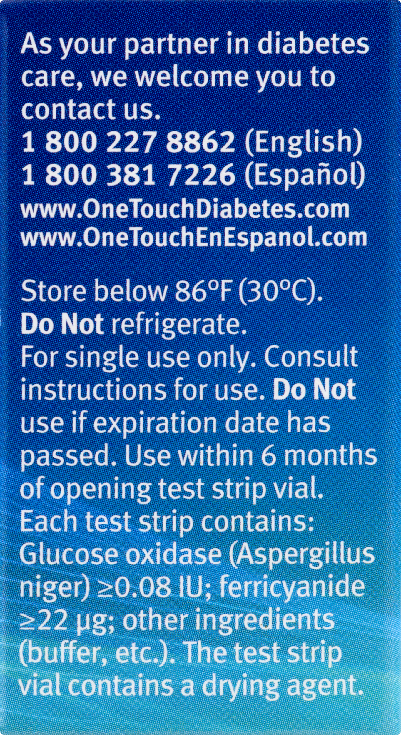Onetouch Ultra Blood Glucose Test Strips 25 Ct Easy Touch Strip
