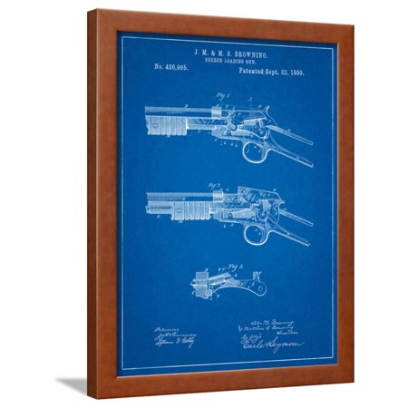 Winchester Model 1890 Gun Patent Framed Print Wall Art By Cole Borders (Winchester Model 77 Clip)