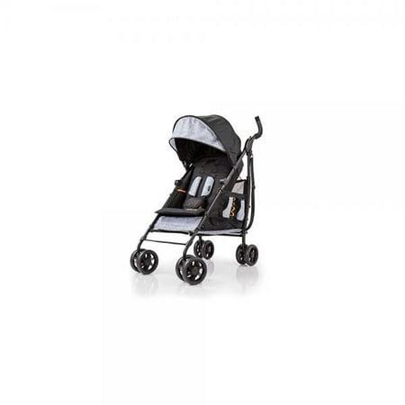 Summer Infant 3Dtote Convenience Stroller Black with Orange Trim ()