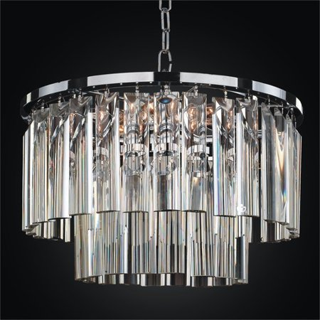 Glow Lighting Wind Chime 5-Light Crystal Chandelier