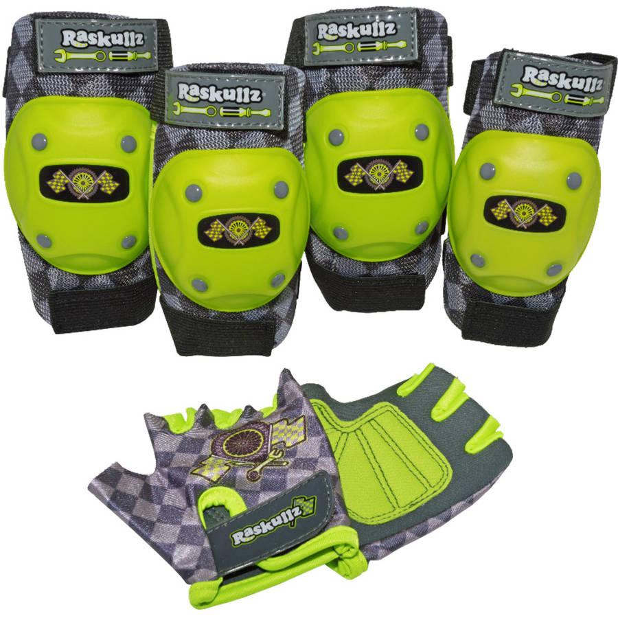 Raskullz Bike Riderz Elbow and Knee Pad Set, with Gloves Child