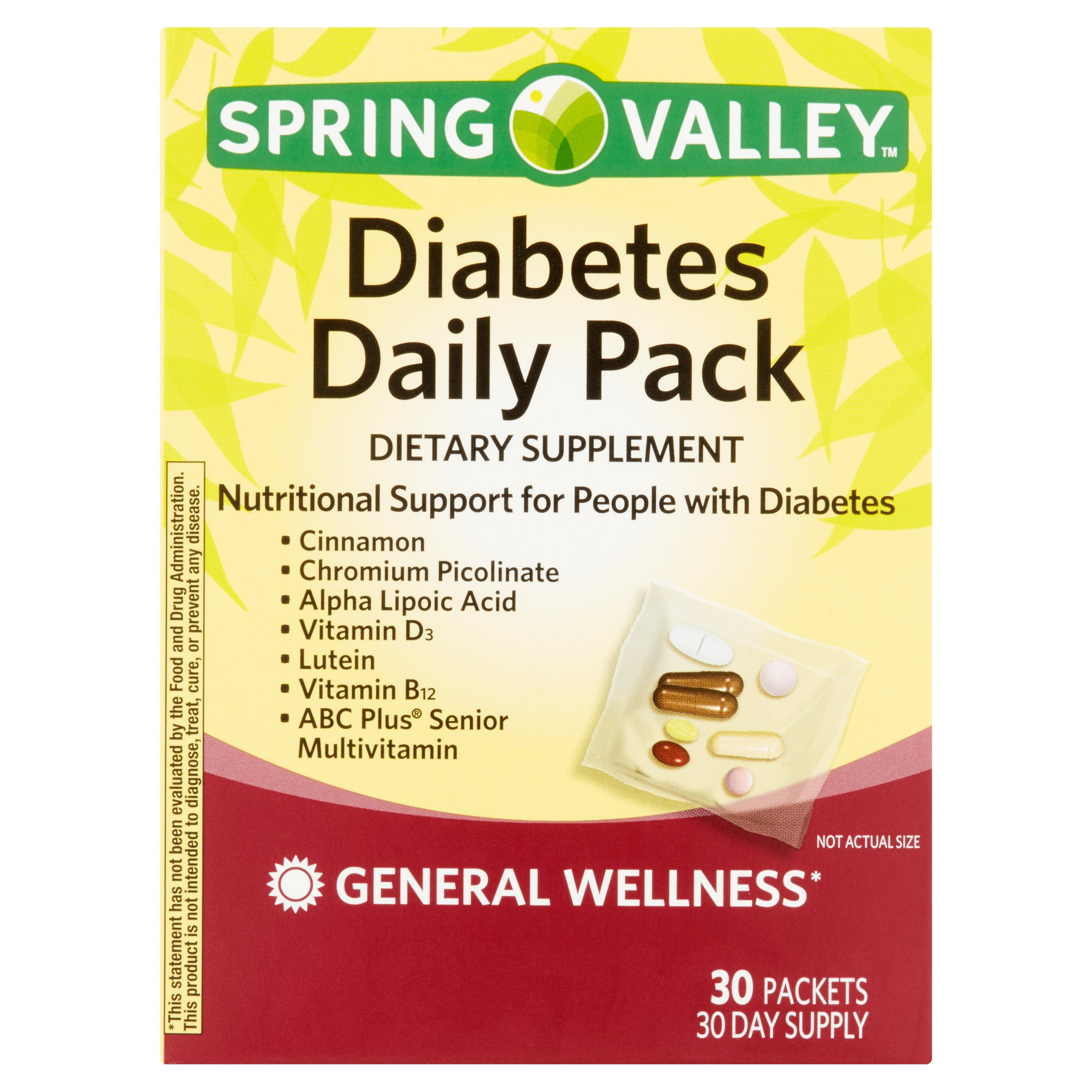 Spring Valley Diabetes Daily Pack, 30 Ct