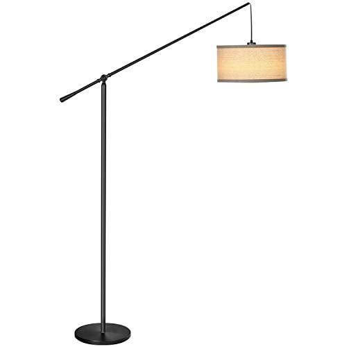 Brightech Hudson 2 - Living Room LED Arc Floor Lamp for ...