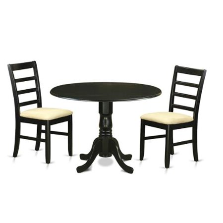 piece dining table set with dining room table and 2 dining room chairs