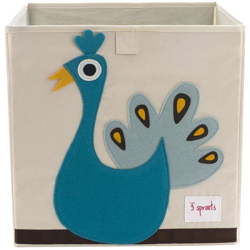 3 Sprouts Storage Box - Peacock Storage Box