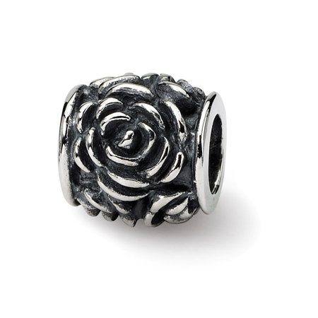 925 Sterling Silver Charm For Bracelet Rose Bali Bead Floral Fine Jewelry For Women Gift Set
