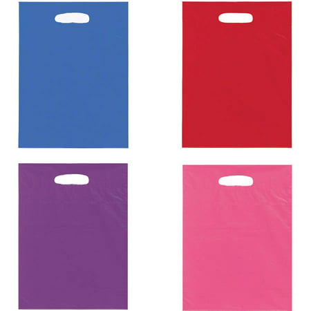 Large Plastic Goodie Bags, 15 x 11 in, Assorted, - Goodie Bag