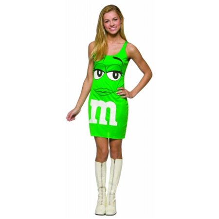 Costumes For All Occasions Gc4042 M&Ms Green Tank Dress 13-16 - Mm Costumes