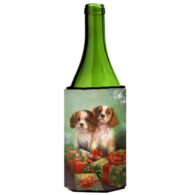 Cavalier Spaniels & Christmas Presents Wine Bottle Can cooler Hugger