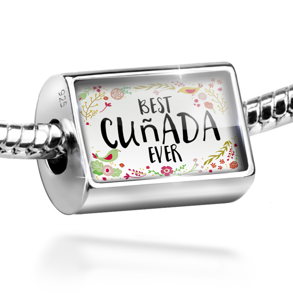 Bead Happy Floral Border Cuñada Charm Fits All European Bracelets