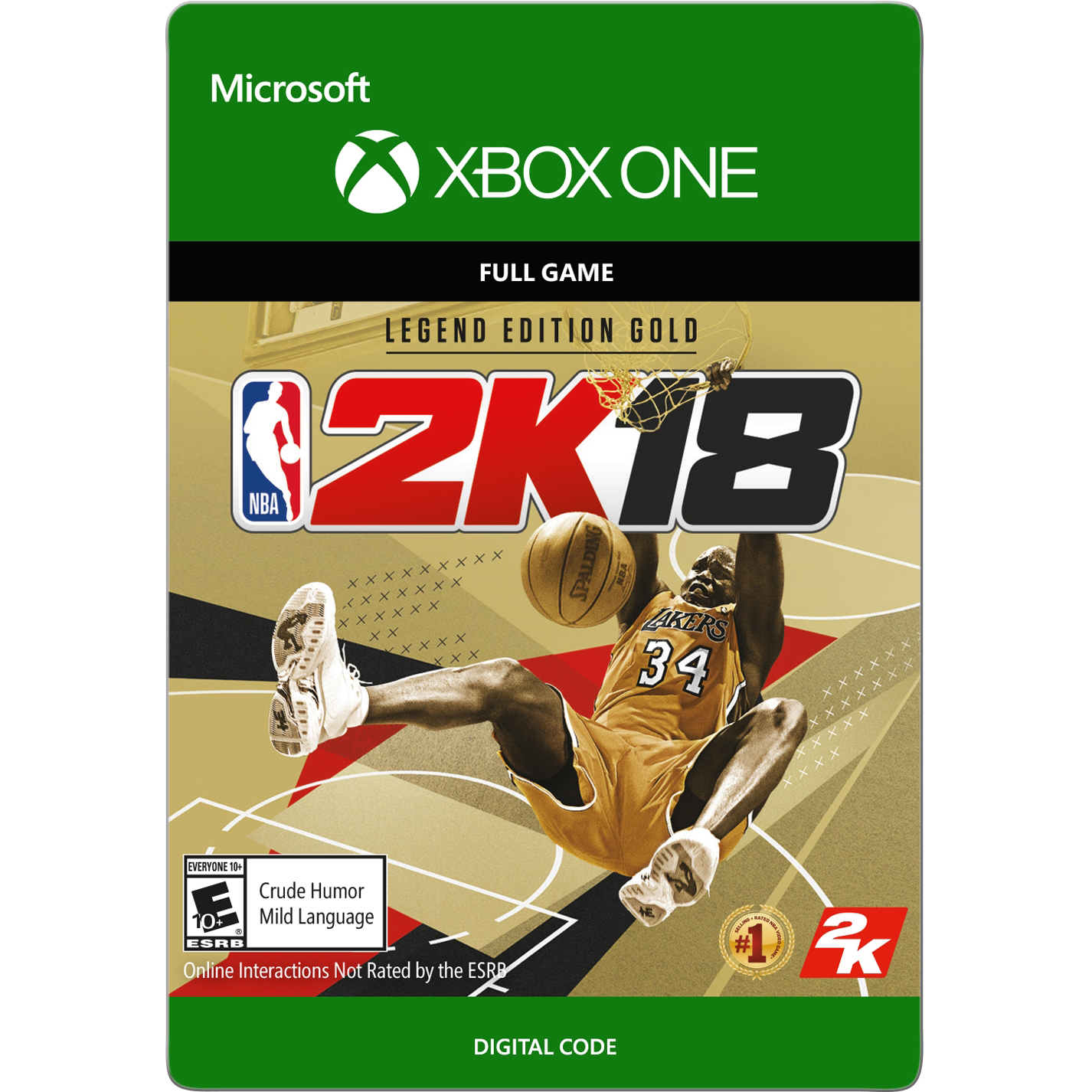 Xbox One NBA 2K18 Legend Edition Gold (email delivery)
