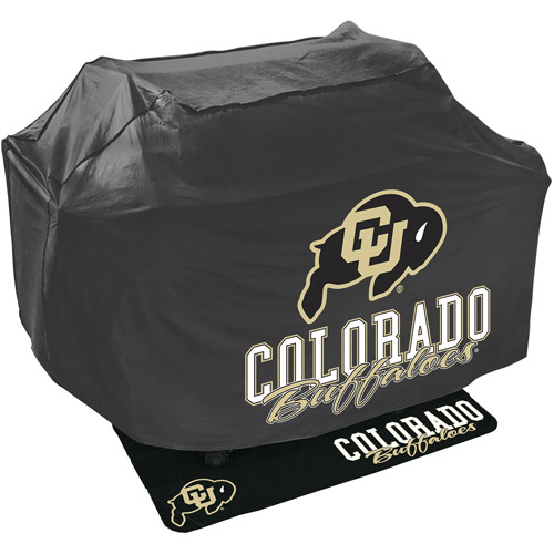 Mr. Bar-B-Q NCAA Grill Cover and Grill Mat Set, University of Colorado Buffalo